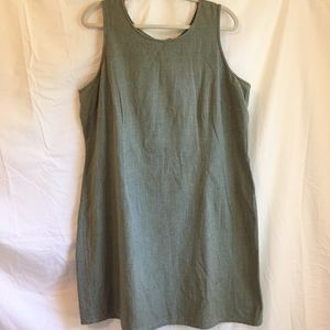 Vintage army green faded glory woman's dress